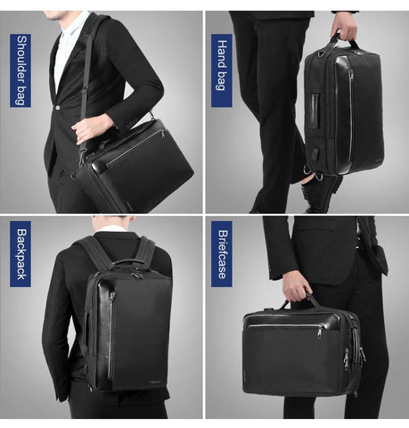 Backpack water repellent 4-in-1 business 15.6 inch multifunction usb charging laptop fashion