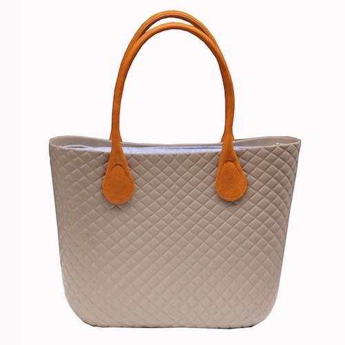 Bag women style waterproof classic big with cashmere felt insert lining leather handle