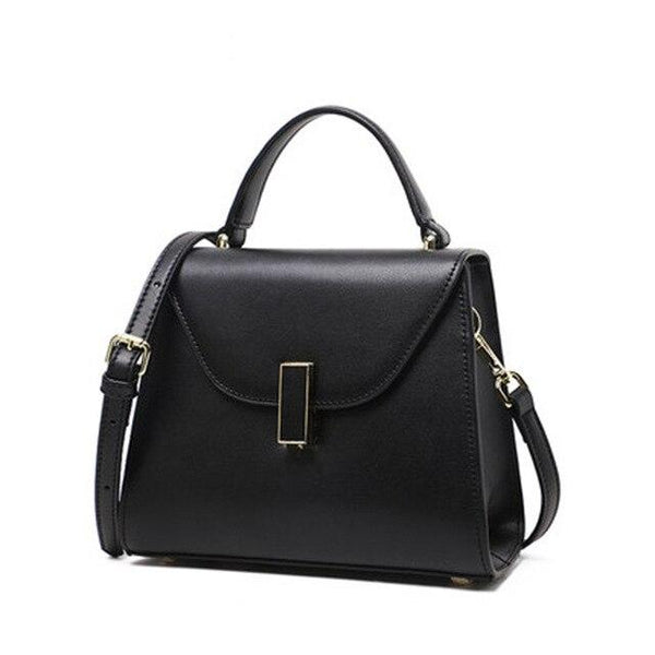 Handbag women genuine leather medium crossbody classic fashion work formal luxury casual shoulder