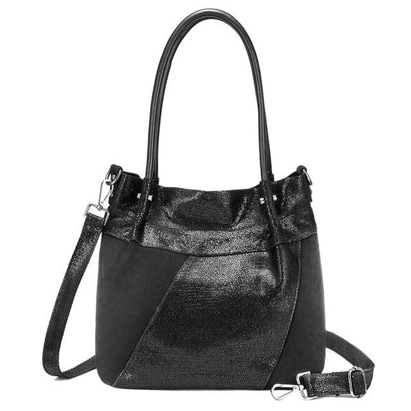 Handbags female genuine leather shoulder bag designer hobo luxury large tote crossbody