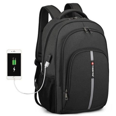 Backpack male large capacity usb charging waterproof travel school anti theft lock laptop
