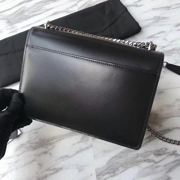 Handbags women luxury sunset bag real leather designer purse crossbody flap chain