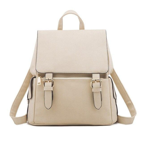 Backpack women shoulder function bag material pu leather travel