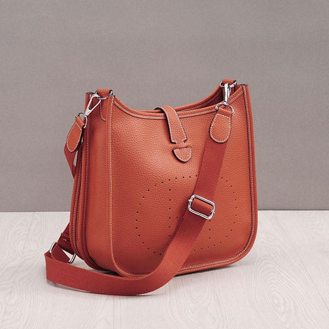 Bag women genuine leather bucket messenger cow brand designer shoulder high capacity fashion handbag