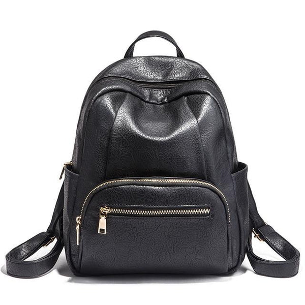 Backpack women ttenage pu leather material for function travel