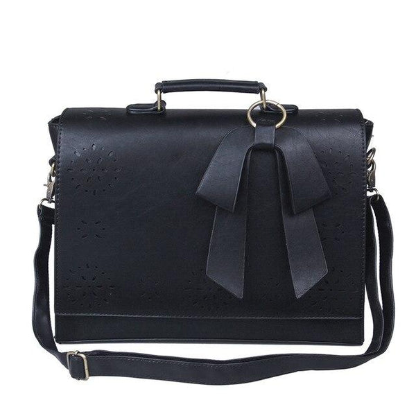 Briefcase women 15.6'' laptop messenger bag pu leather large vintage shoulder retro handbag crossbody