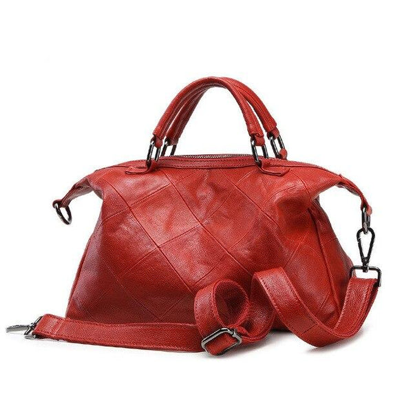 Bag women fashion genuine leather handbags classic brand design 100% cowhide shoulder messenger tote