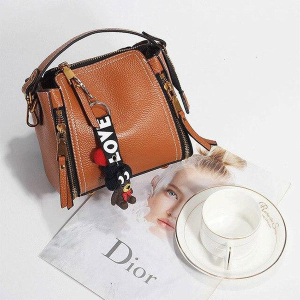 Bags women first layer genuine leather mini trendy shoulder handbag travel designer crossbody