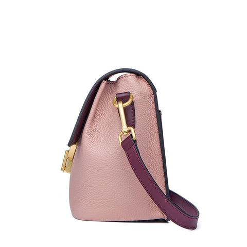 Handbags female genuine leather shoulder patchwork fashion designed small cow bags
