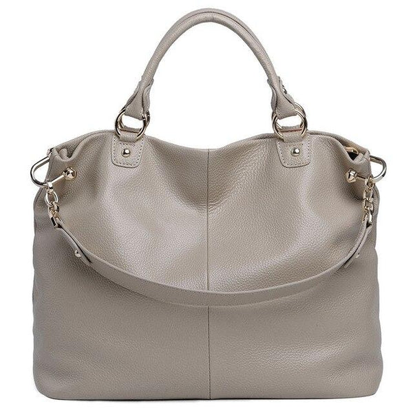 Handbag women shoulder crossbody genuine leather casual zipper messenger tote