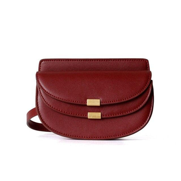 Bag women fashion genuine leather messenger luxury designer small handbags purse chain shoulder