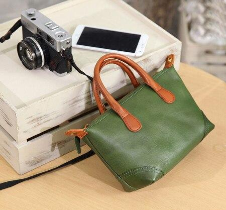 Bag womens genuine leather real messenger crossbody retro spacious
