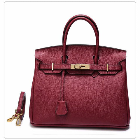Handbag women luxury fashion classic 100% genuine leather cowhide big tote clutch shoulder