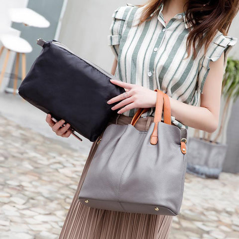 Bag female genuine leather handbags crossbody shoulder tote