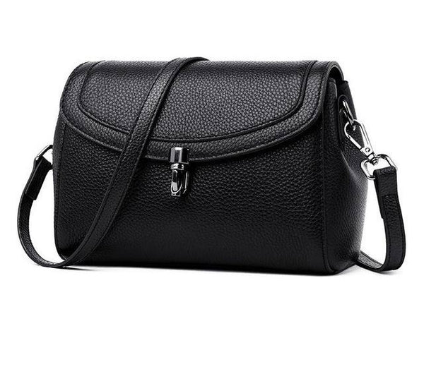 Bag classic women genuine leather crossbody messenger with dividers cross body shoulder