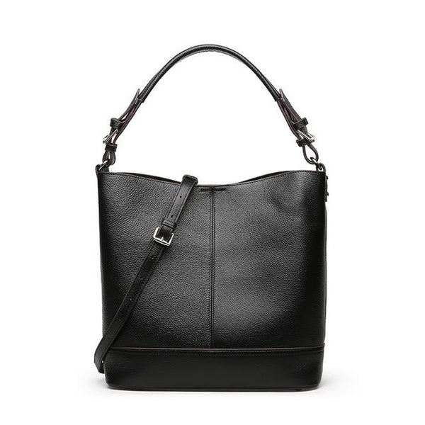 Handbags women luxury genuine leather bucket shoulder purse tote messenger