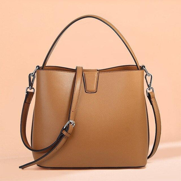 Bag women real leather purses and handbags vintage bucket cowhide fashion shoulder messenger