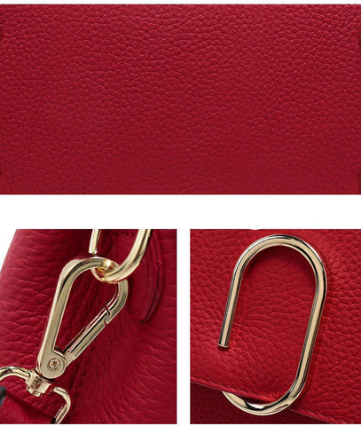 Bag women genuine leather messenger brand crossbody