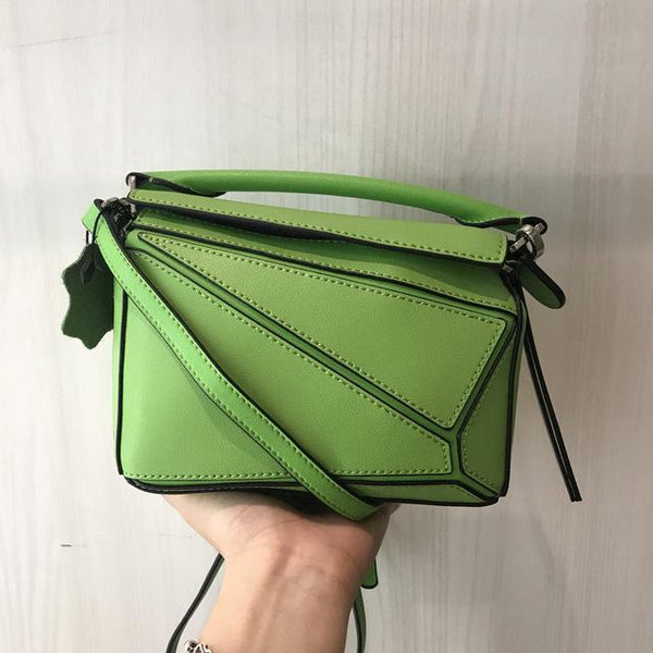Handbag women mini geometry pack leather diagonal square bag summer shoulder customized