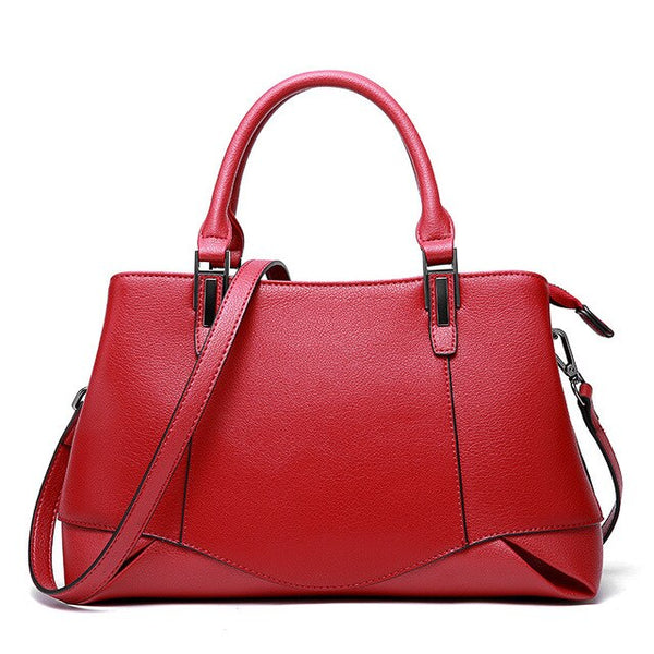 Handbag women's spring summer genuine leather fashion calfskin tote bagsshoulder cross body