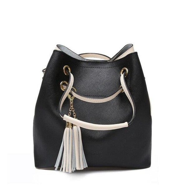 Bags for women luxury genuine leather shoulder barrel-shaped casual tote channels handbags totes pochette set