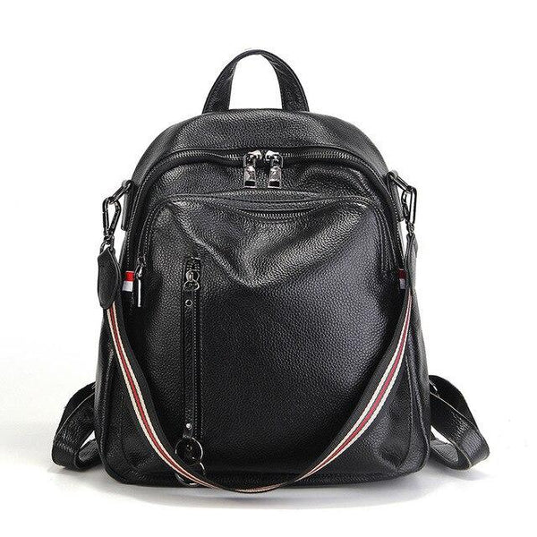 Backpack women fashion 100% genuine leather real travel bag casual knapsack