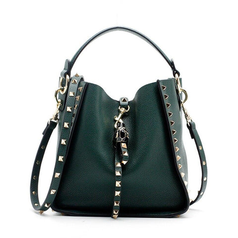 Bag women personality rivet handbag single shoulder bucket composite large capacity all-match simple stylish