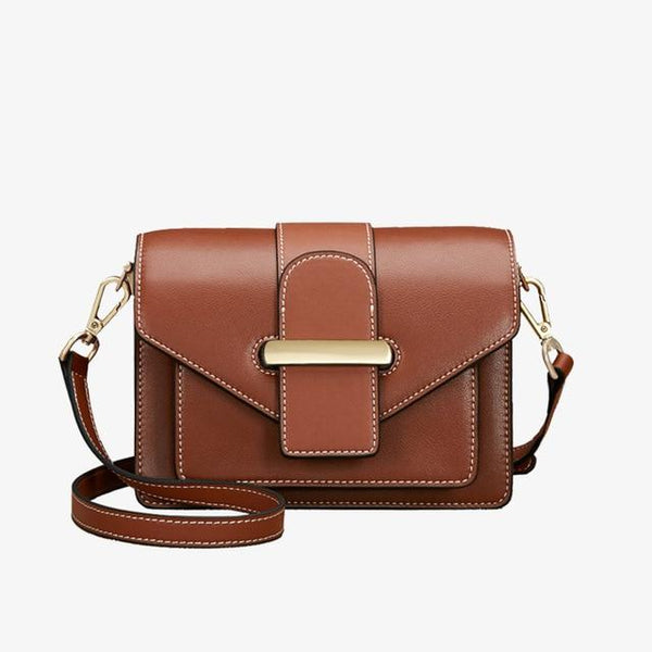 Bags gentlewoman stylish messenger cowhide elegant leather shoulder strap crossbody