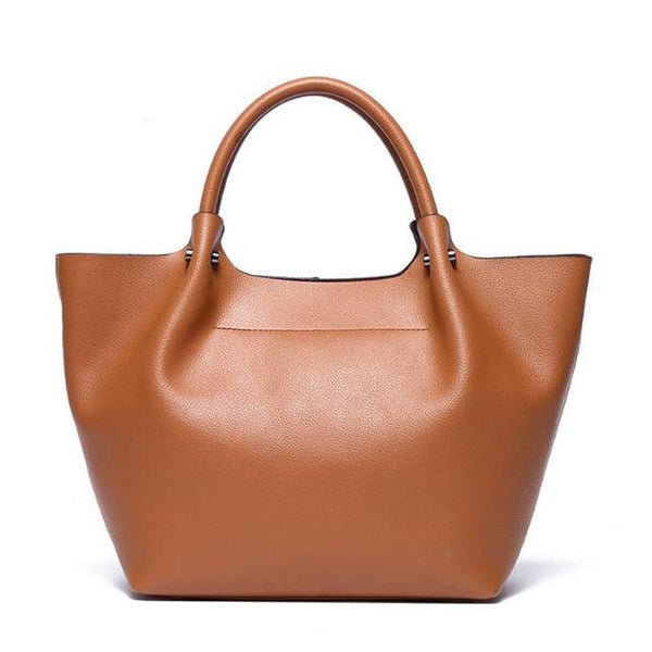 Handbag women fashion genuine leather casual tote large capacity shoulder famous brand designer