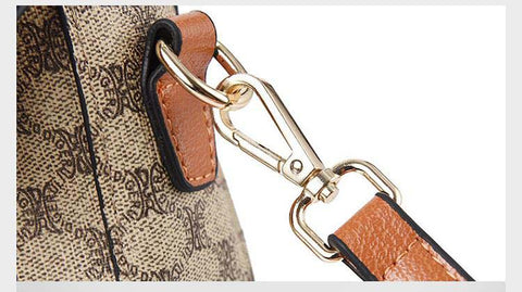 Handbag women luxury brand pu leather print bag fashion classic