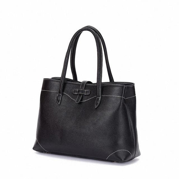 Handbags women genuine leather elegant fashion tote high capacity shoulderbags daily purse