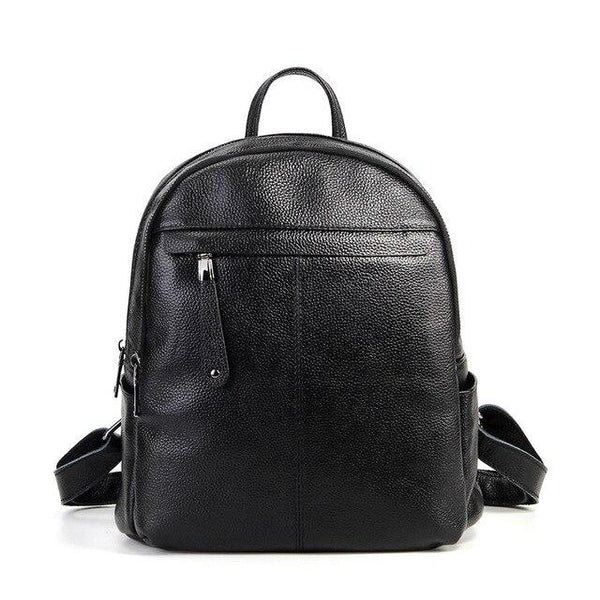 Backpack female 100% genuine leather real skin travel bags