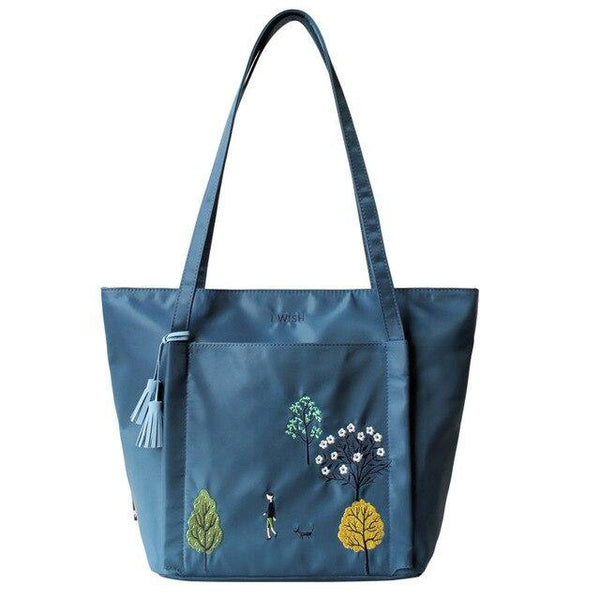 Handbags women flower princess shoulder bags tote tassel