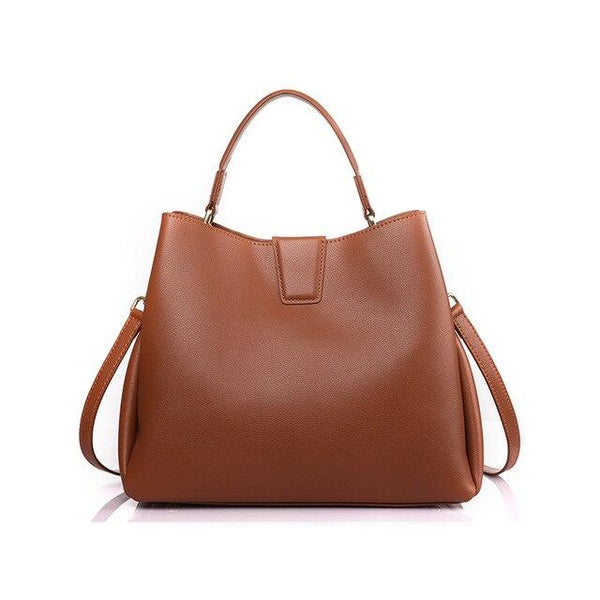 Bag women luxury handbag genuine cow leather bucket designer shoulder