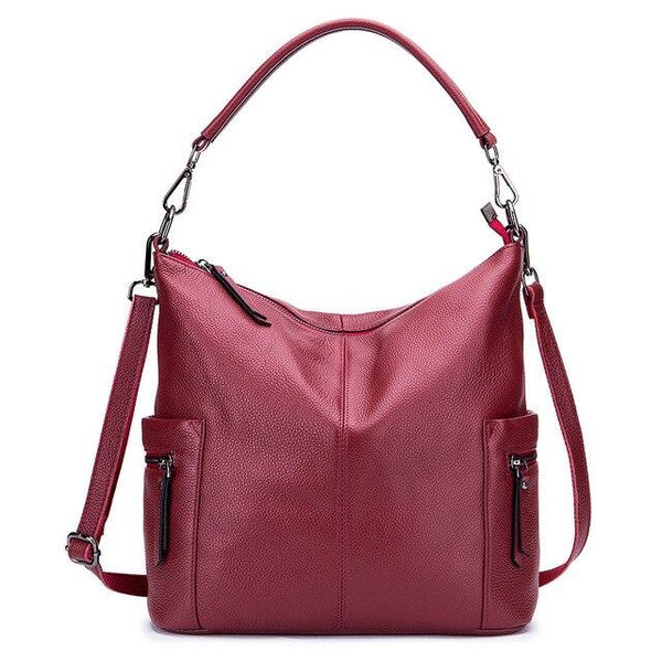 Bags for women style simple shoulder genuine leather handbags crossbody large
