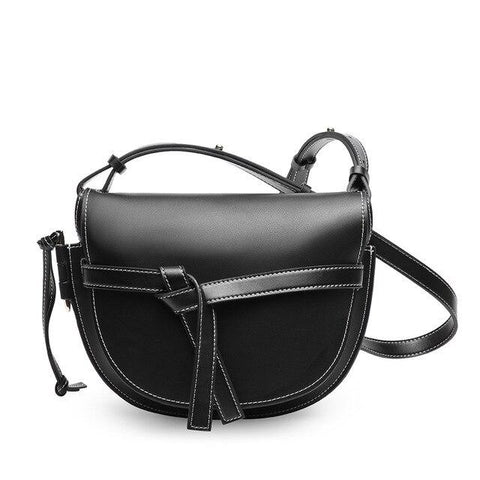 Bag woman designer fashion saddle messenger handbags split leather cowhide crossbody famous brand