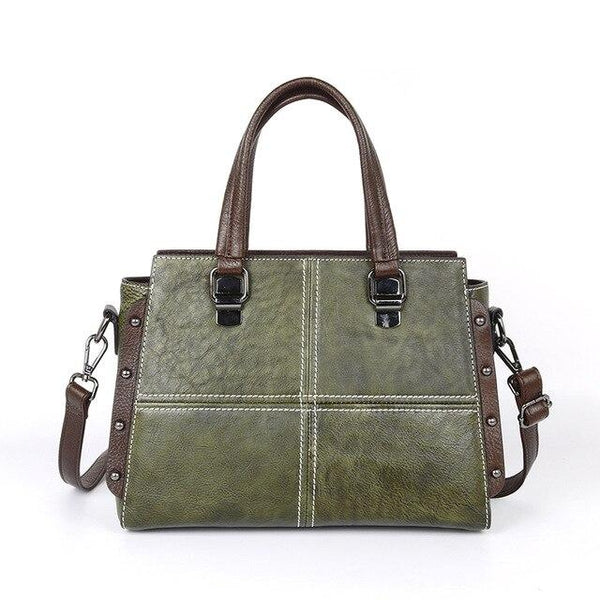 Bags women vintage real cowhide shoulder messenger famous brand handbag leisure genuine leather tote