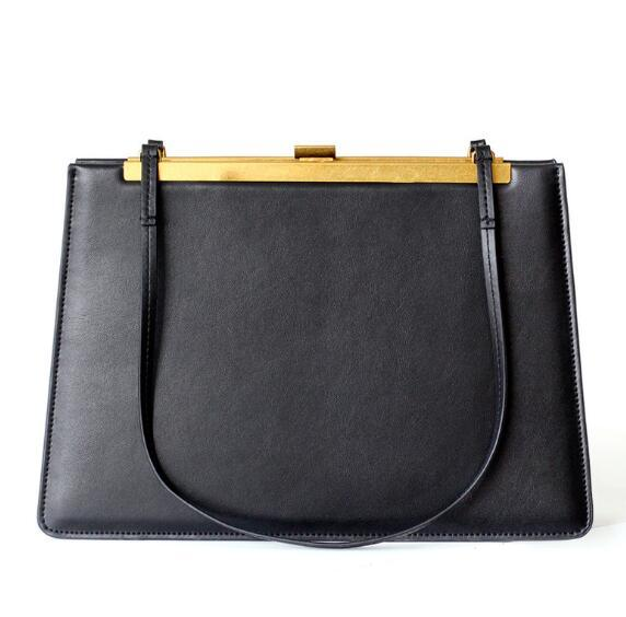 Handbags women high capacity genuine leather bag vintage hasp design shoulder trendy