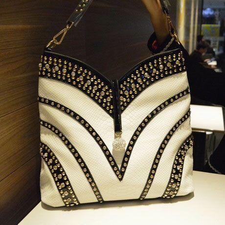 Bag women luxury fashion diamonds handbags shoulder messenger rivet crossbody large capacity rhinestone