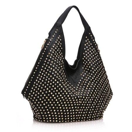 Handbags women luxury fashion diamonds large capacity shoulder bag drill portable rhinestone rivet dumplings
