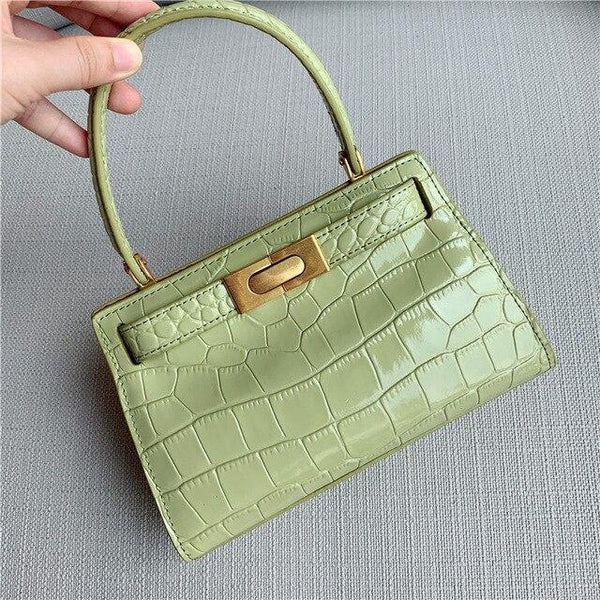 Handbag women fashion genuine leather bag alligator flap crossbody famous brands messenger