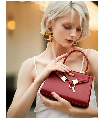 Handbags women luxury genuine leather small fashion shoulder hardware cross body