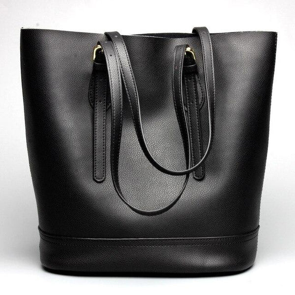Handbag ladies fashion leather casual shoulder leather bucket bag