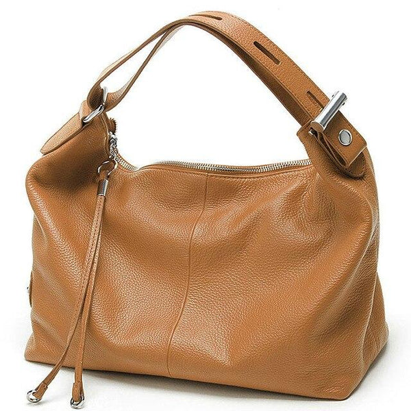 Bag female genuine leather luxury handbags designer shoulder messenger top-handle casual tote