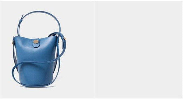 Handbags women bucket composite genuine leather party crossbody
