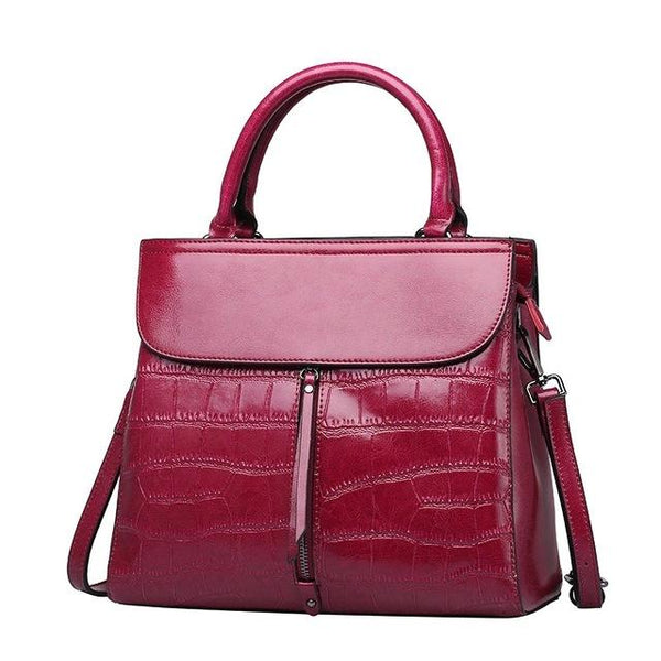 Bag genuine leather new autumn and winter package fashion stone shoulder messenger tote luxury handbags
