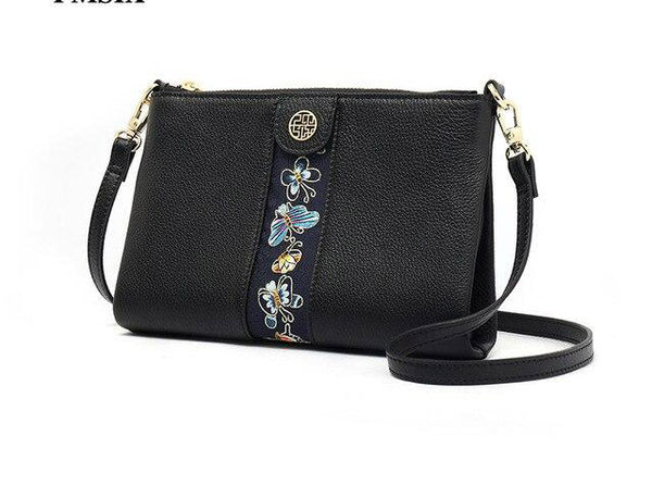 Bags for women cartoon embroidery inclined shoulder casual zipper square package crossbody