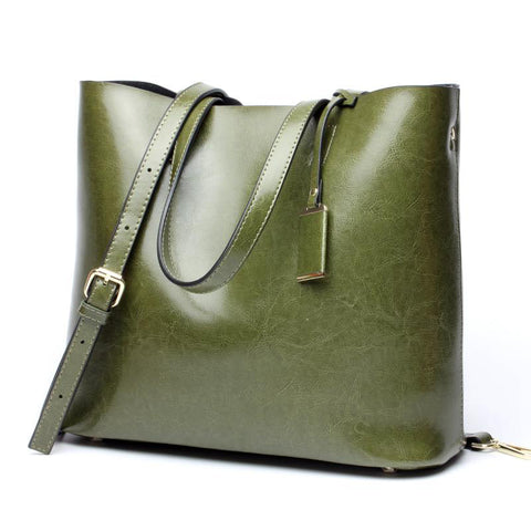 Handbags women american fashon design shoulder genuine leather cowhide real leather