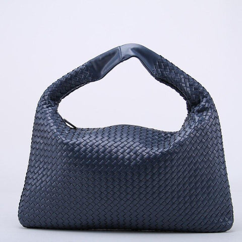 Bag women's brand celebrity woven leather handbag criss-cross hobo dumplings knitting casual tote