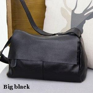 Bags women's retro vintage messenger real leather shoulder natural genuine famous brand crossbody